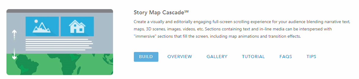 Image of Cascade type of Story Map