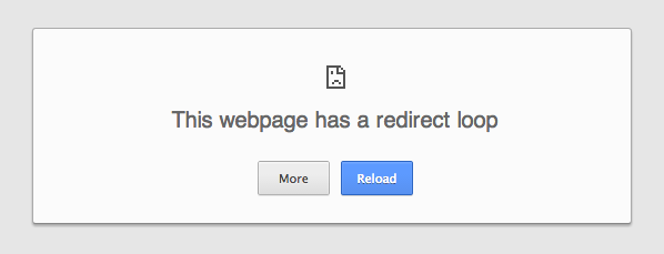 Gmail redirect loop error message