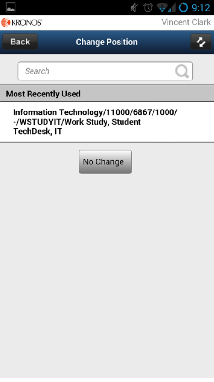 Entering hours using mobile time entry app (Students) - Powered by