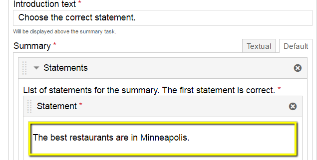 Summary fields, top summary is correct