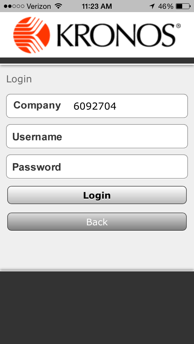 Company Entry Screen