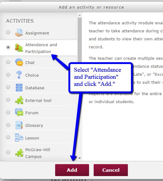Add attendance activity