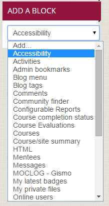Add an Accessibility Block