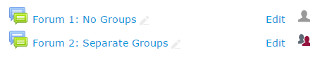 Change to groups on main page