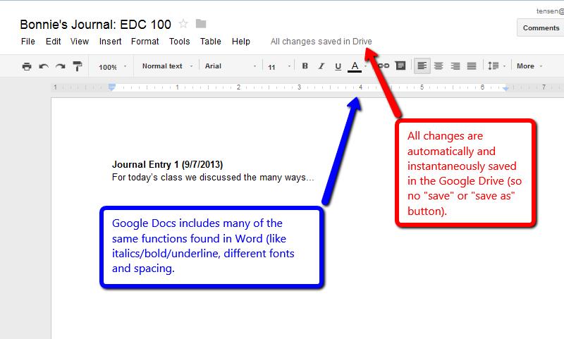 Student Journals Using Google Docs Powered By Kayako Fusion Help - Google docs save