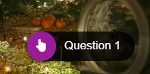 "Magenta cirlcle with a white hand pointing to indicate the location to click with the label text ""Question 1"""