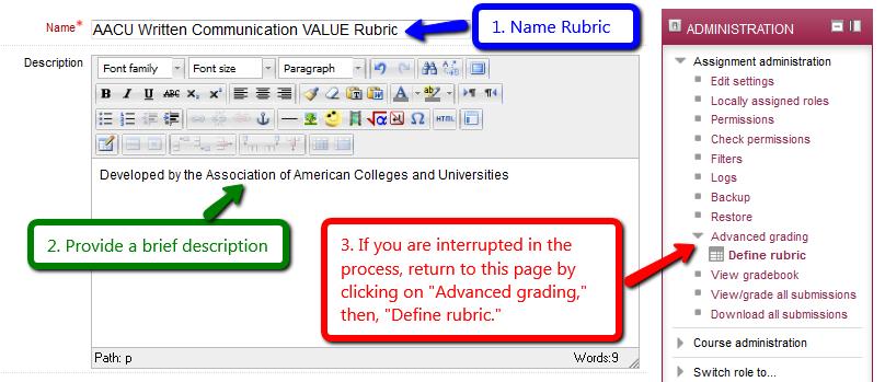 Name rubric