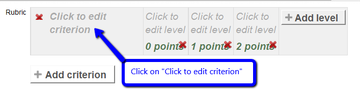 Click to edit criterion name
