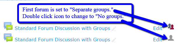 Change to no groups