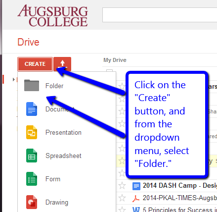 Create Google Folder