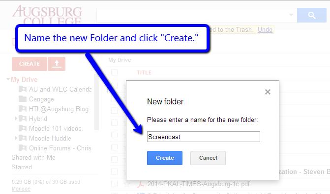 Name Google Folder