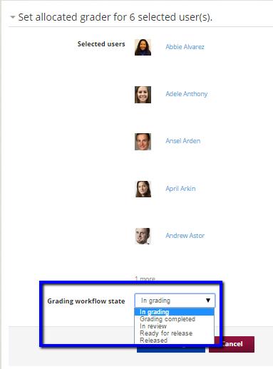 """Select """"In grading"""""""