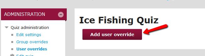 Add user override