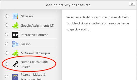 Name Coach Activity
