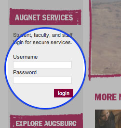 AugNet login boxes