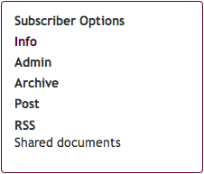 subscriber options