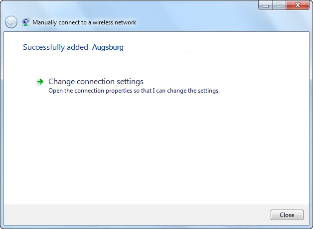 Change Connection Settings