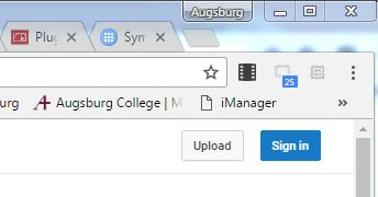 blue sign in button on upper right corner of page